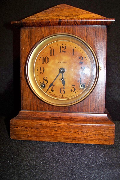 Seth Thomas Shelf Clock in Wooden Case