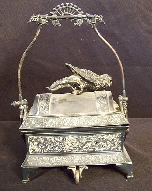 White Metal Novelty Trinket Box