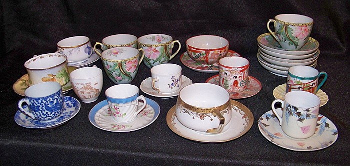 Grouping of Misc. Cups and Saucers and Demitasse