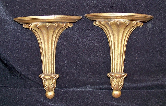 Pair of Decorative Italian Wall Brackets