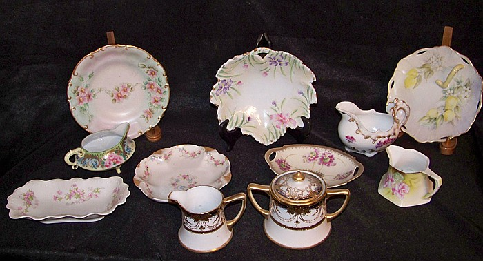 11 Assorted Pieces of China including Hand Painted Nippon Cream and Sugar