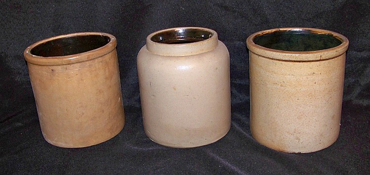 3 Stoneware Crocks