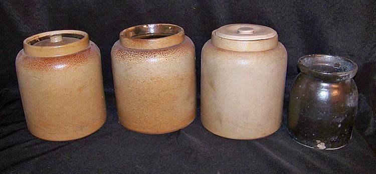4 Assorted Antique Crocks