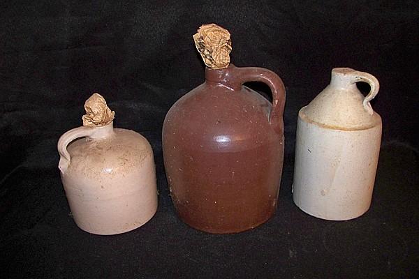 3 Stoneware Jugs