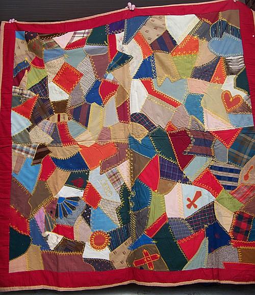 Vintage Handmade Crazy Quilt