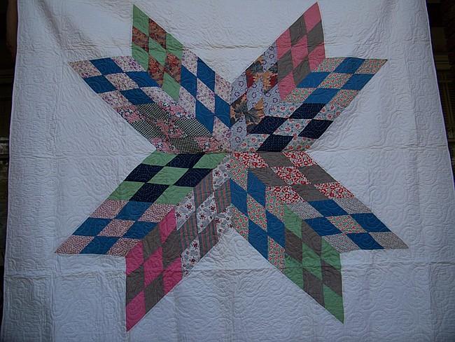 Quilt in Star Pattern