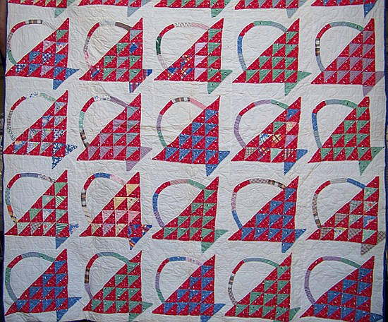 Handmade Quilt in Basket Pattern