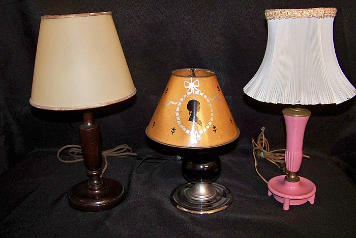 Group of 3 Small Table Lamps