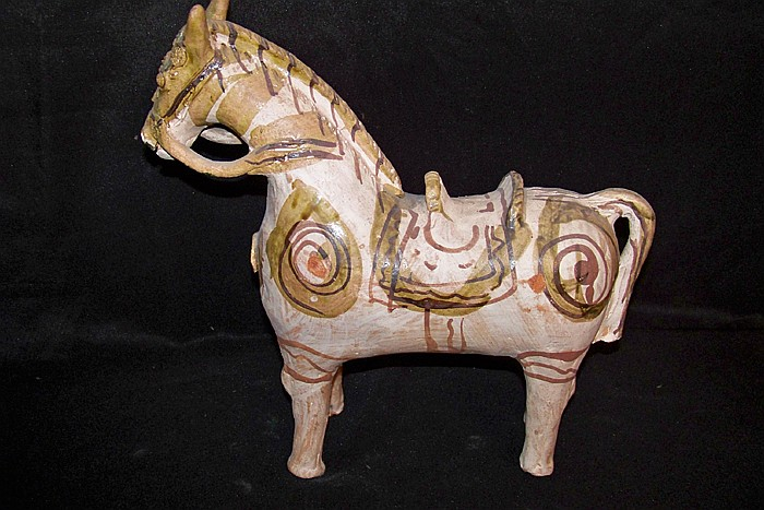 Ceramic Painted Donkey and Another
