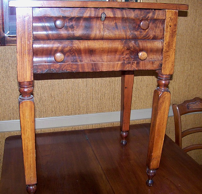 Walnut Two Drawer Side Table