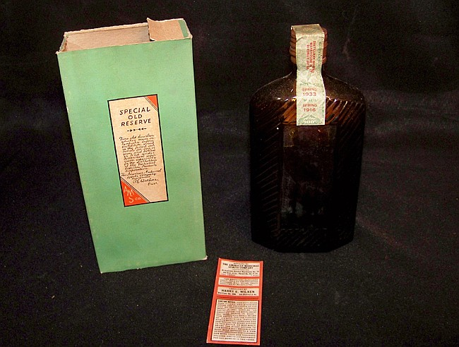 """Sealed Bottle of """"Special Old Reserve"""" Bourbon with Box"""