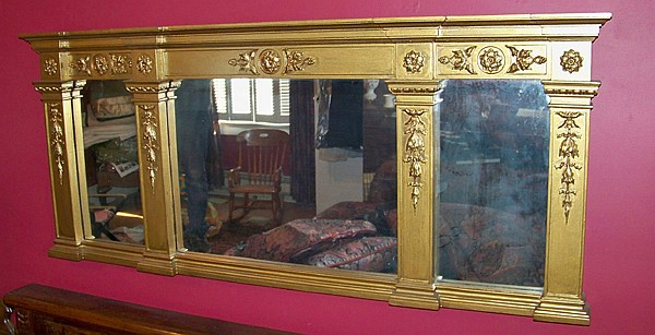 Gold Painted Over Mantel Mirror