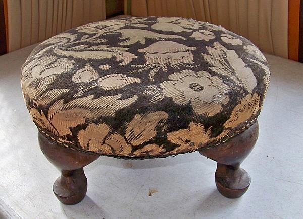 Antique Upholstered Footstool