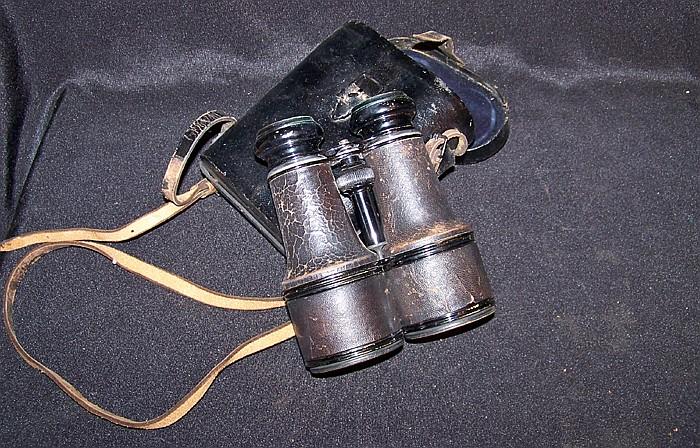 Vintage Leather Cased Binoculars