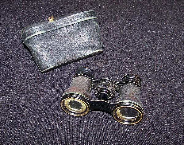 Vintage Leather Cased Small Binoculars