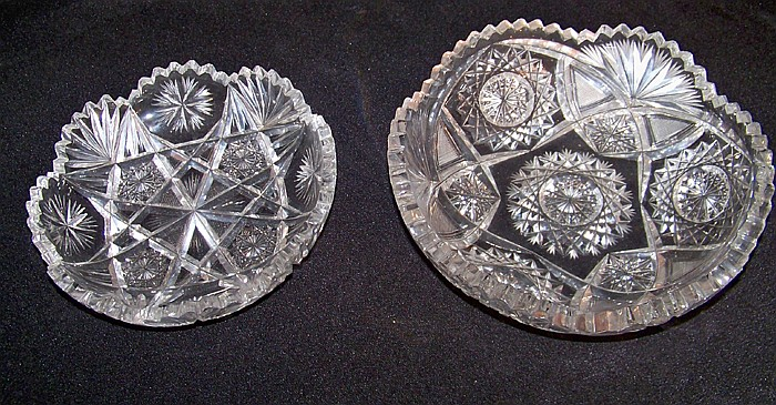2 Cut Glass Bowls