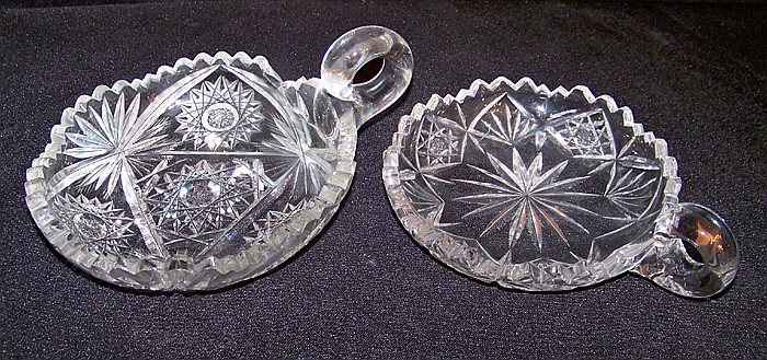2 Cut Glass Candy/ Nut Bowls