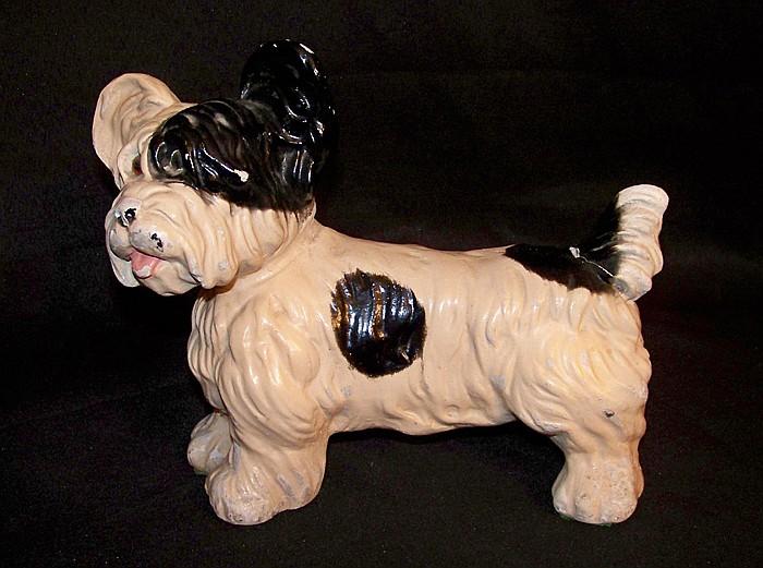 Heavy Plaster Scottie Dog