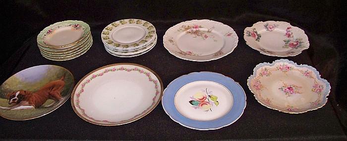 Box of Antique Plates