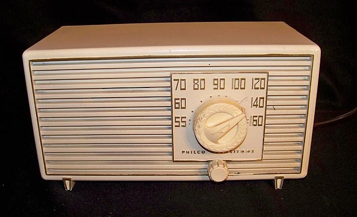 1953 Ivory Vintage Philco Radio