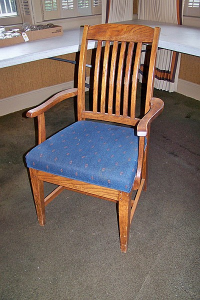 Oak Armchair with Padded Seat