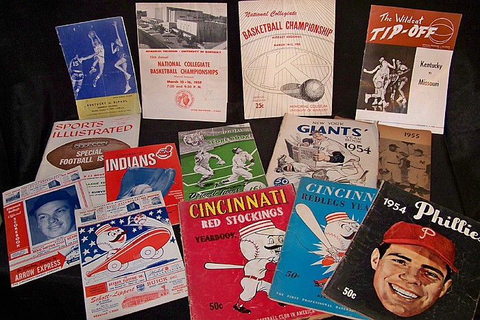 Assorted Programs and Scorecards from 1950's to 1960