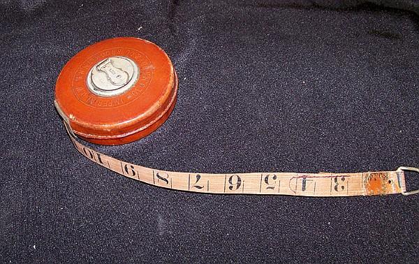 Vintage Leather Cased Eddy Tape Measure
