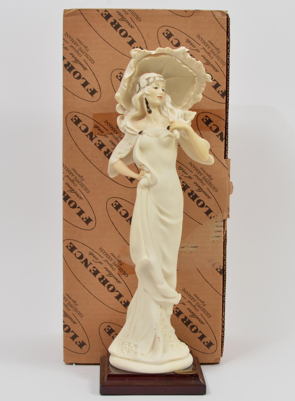 G. Armani Woman & Umbrella Figurine w/Box