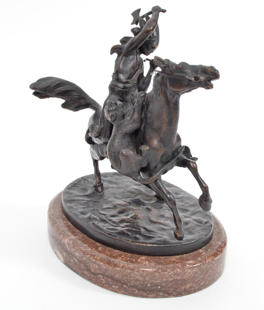 Carl Kauba Bronze Warrior on Horse