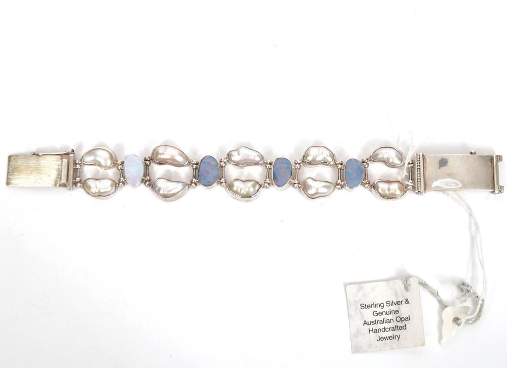 Sterling Silver & Opal Bracelet NWT