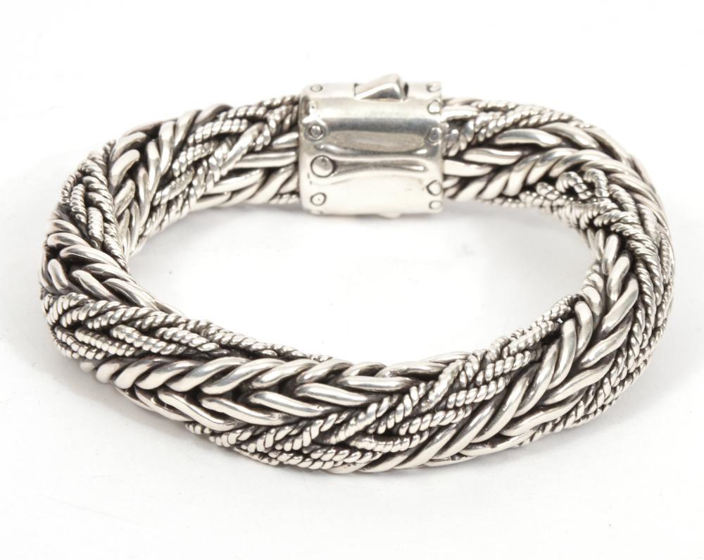John Hardy Thick Silver Chain Bracelet