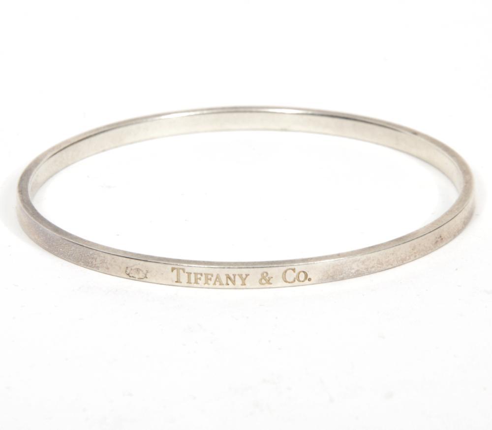 Tiffany & Co. Sterling Silver Flat Bangle Bracelet