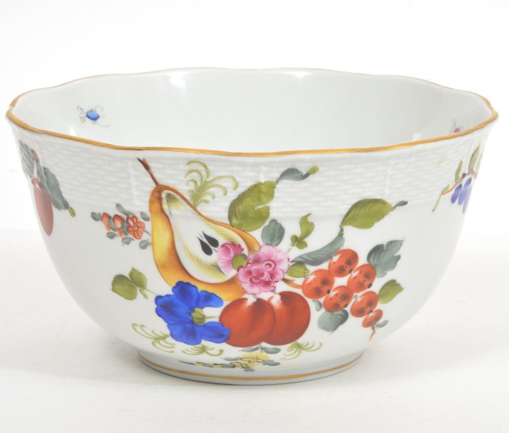 Herend Hungary Porcelain 'Fruit & Flowers' Bowl