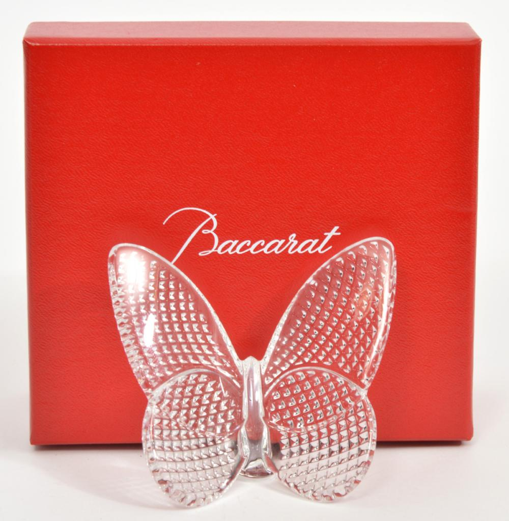 Baccarat Crystal Butterfly Figure