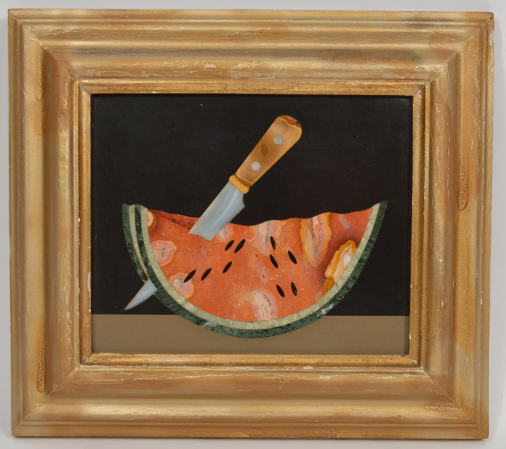 G. Ugolini Framed Natural Stone Mosaic Watermelon