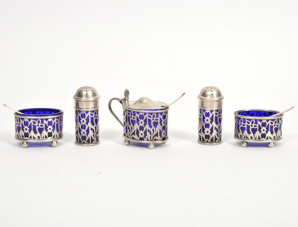 Gorham Sterling Cobalt Blue Liners 8Pc Set