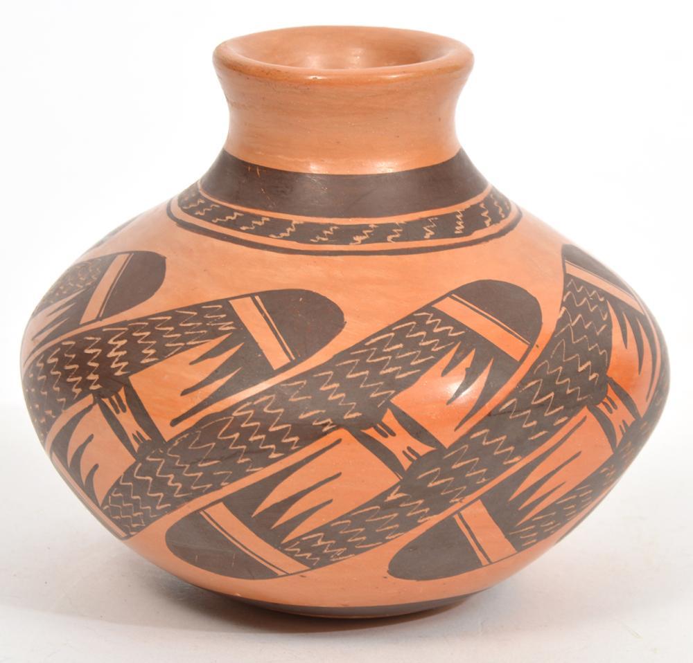 Rachel Sahmie Hopi Polychrome Vase