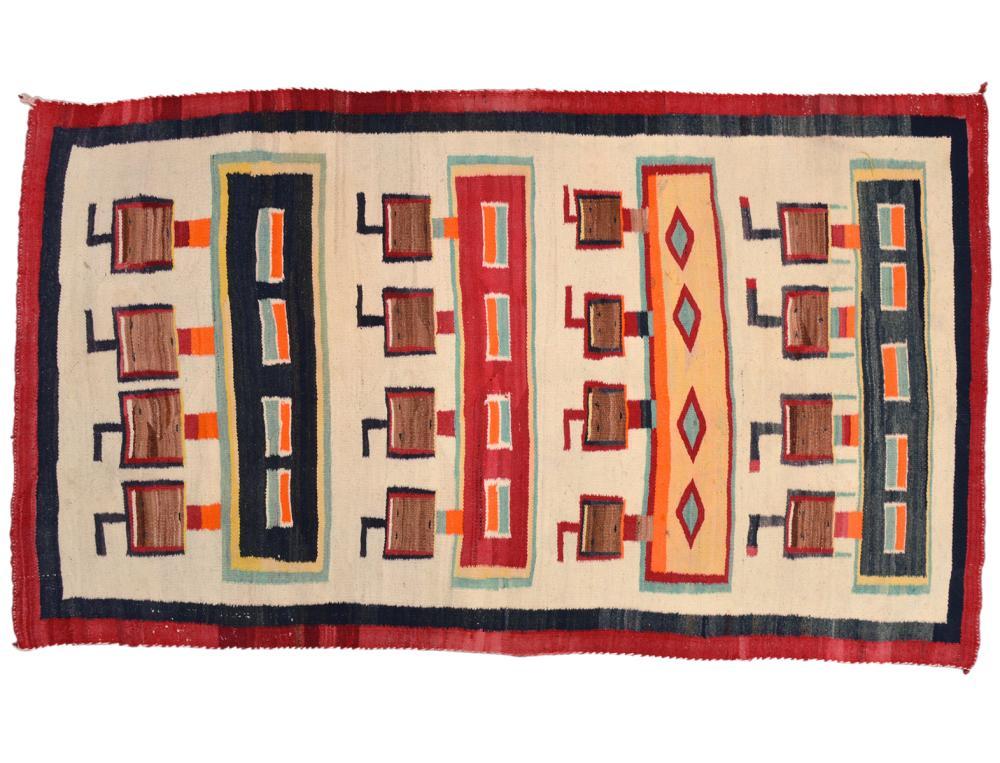 Rare Navajo Yei Carpet / Rug