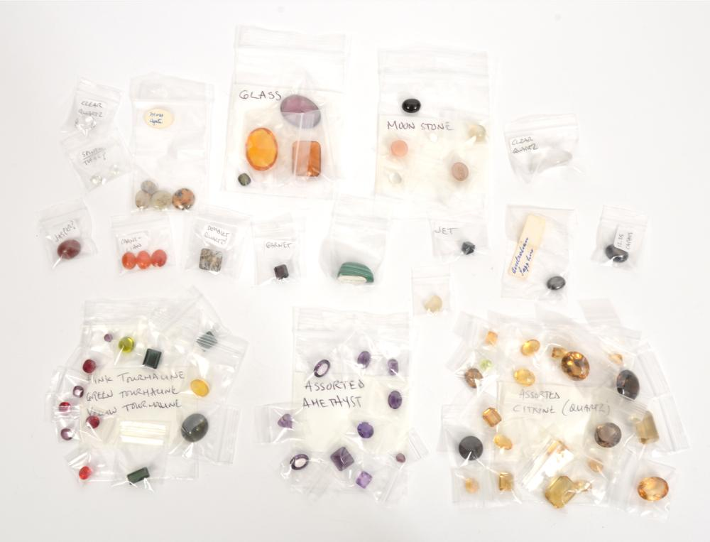 Mixed Assortment of Loose Stones and Minerals