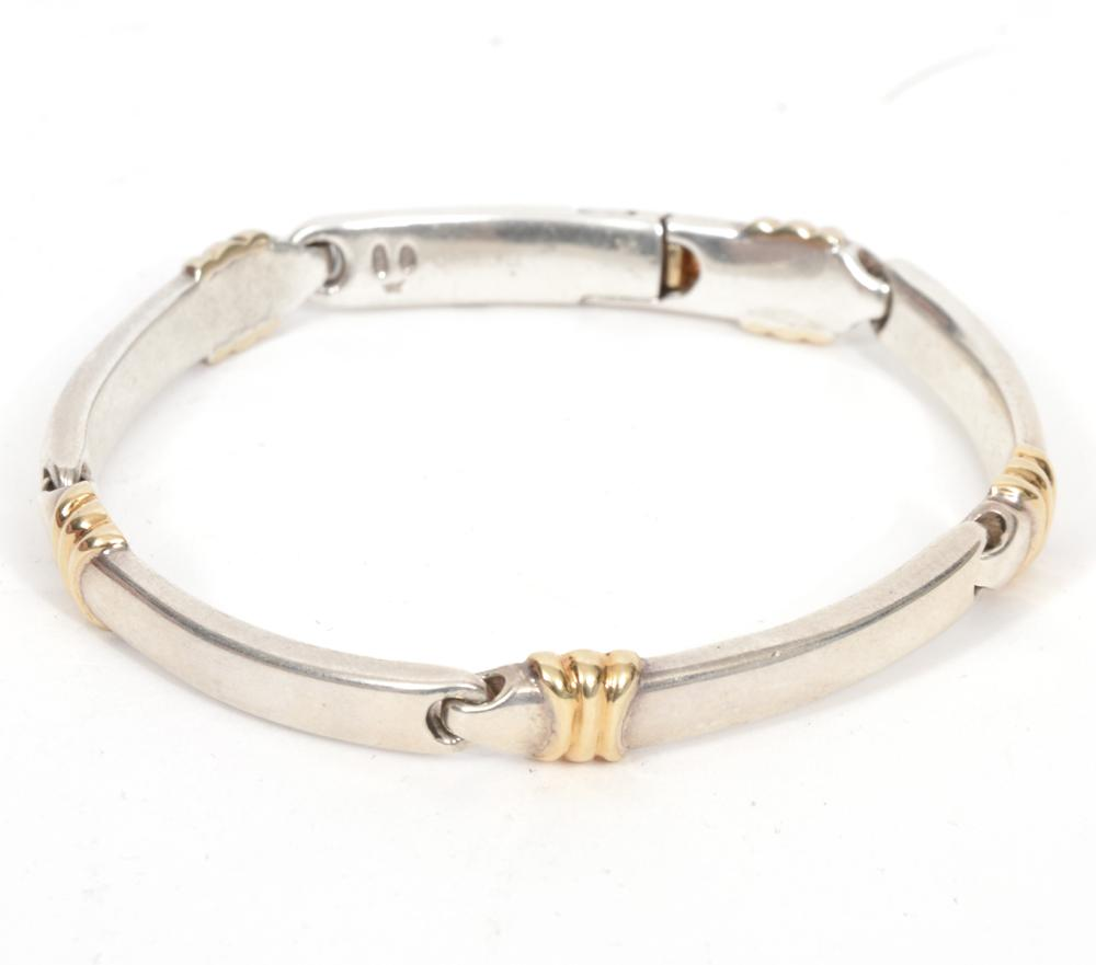 Christofle 18K & Silver Link Bracelet