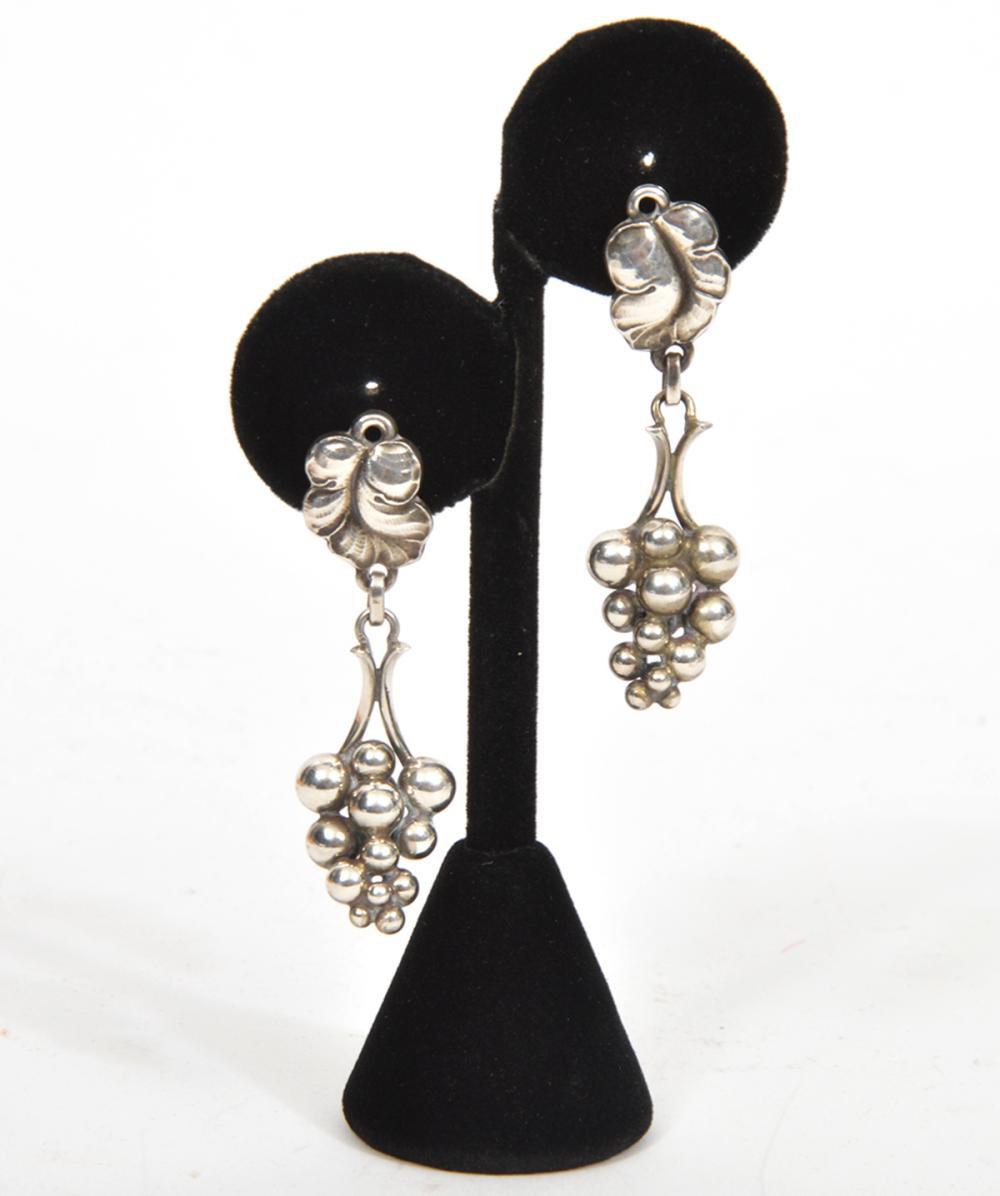 Georg Jensen Sterling Silver Pair of Earrings