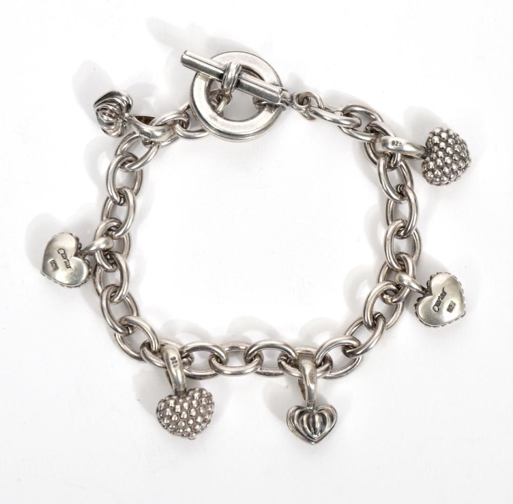 Lagos Caviar Sterling Silver Charm Bracelet