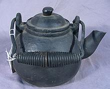 HEAVY CAST IRON TEA KETTLE