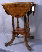 FRENCH STYLE HAND CARVED AND INLAID CHESS TABLE
