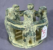 UNUSUAL FIGURAL POTTERY CANDLE HOLDER