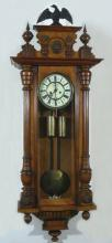 ANTIQUE HAND CARVED WOODEN WALL CLOCKQ