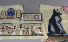 GROUP OF FOUR ORIGINAL EGYPTIAN PAINTINGS