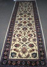 HAND KNOTTED VINTAGE PERSIAN MESHAD RUNNER