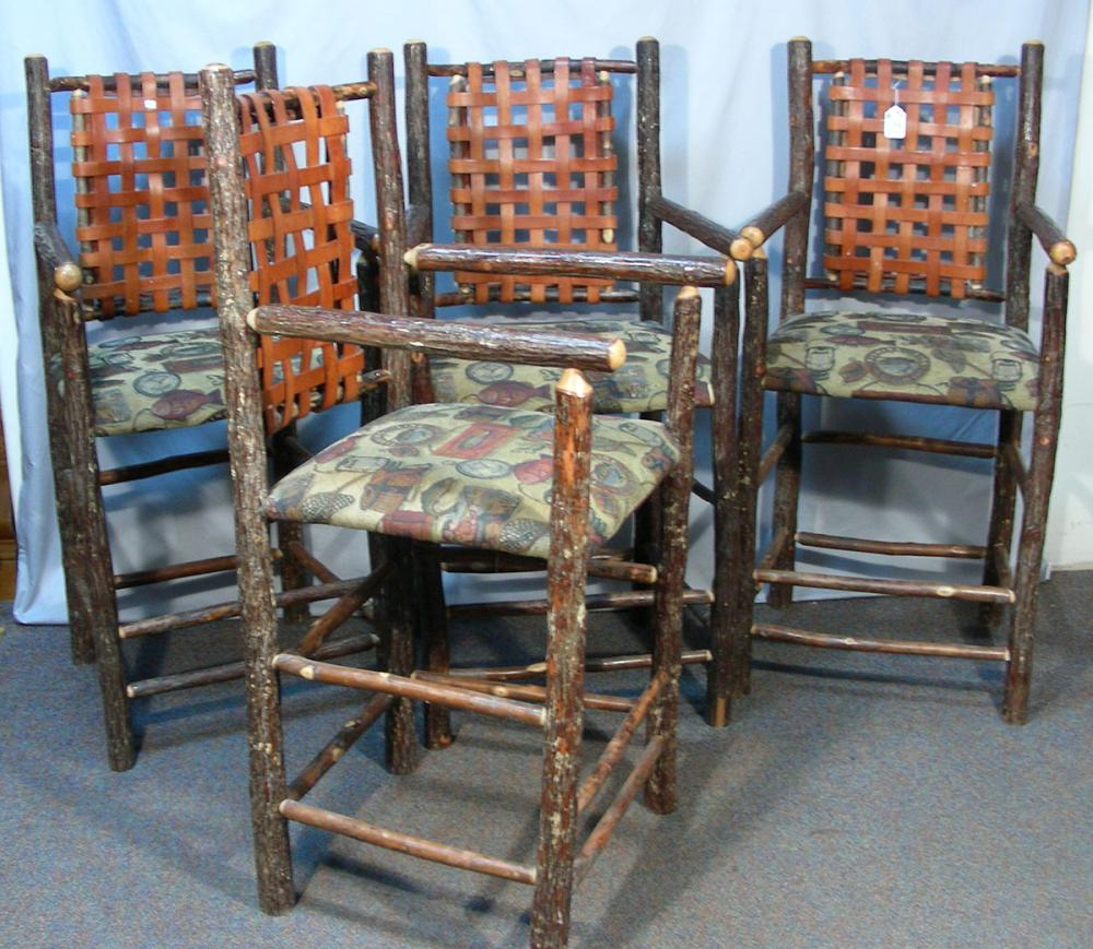 Stupendous Lot 119 Group Of Four Custom Made Rustic Bar Stools Alphanode Cool Chair Designs And Ideas Alphanodeonline