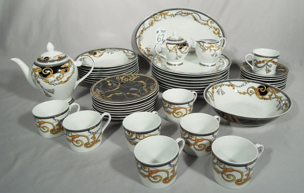 47 PIECE SET OF VERSACE STYLE DISHES